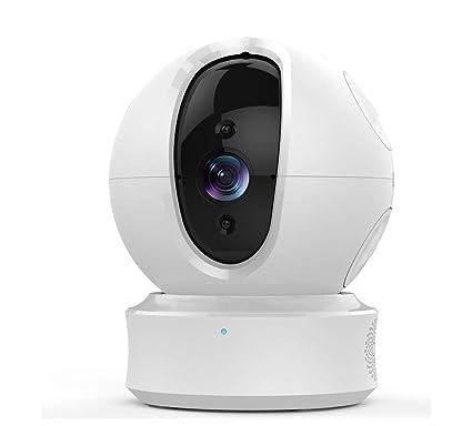 DJLOOKK Cámara para Perros Domo 1080p Pan/Tilt/Zoom Sistema de vigilancia de Seguridad
