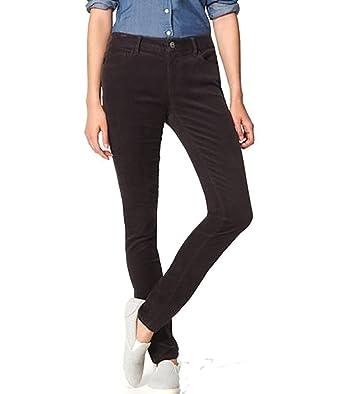 e6da9f68ee07eb Ann Taylor LOFT - Women's - Curvy Fit Skinny Corduroy Pants (00, Coal Gray