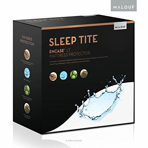 MALOUF Sleep TITE ENCASE LT Bed Bug Proof Waterproof Mattress Encasement Protector - Queen