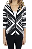 Joseph Ribkoff Black & White Striped Textured Coverup Jacket Style 172852 - Size 16