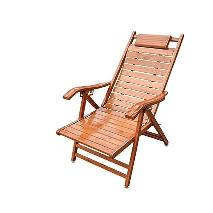 YY_C1 Sillón reclinable de bambú, Silla Plegable, Silla para ...