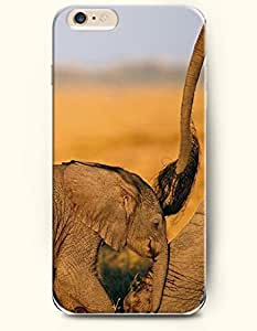 OFFIT iPhone 6 Plus Case 5.5 Inches An Baby Elephant Follow Its Mother Elephant