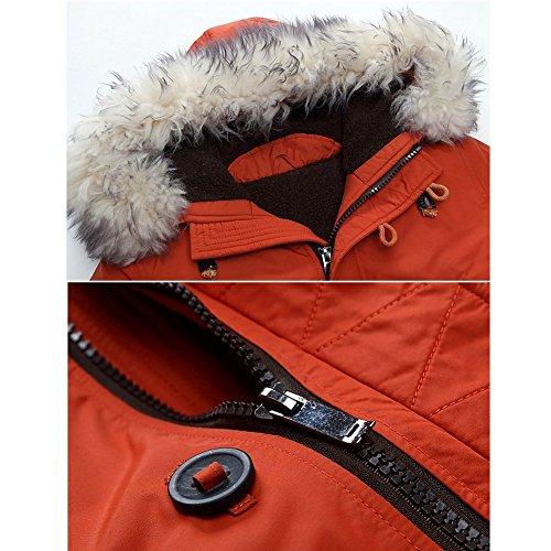 Parka Capuche Militaire Chaud Orange Veste Parkas Blousons Outwear Manteau Épais À Blouson Homme Hiver Trench Tomwell YqxR1wE