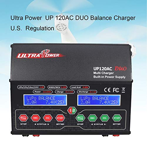 Wikiwand Ultra Power UP120AC Duo Balancing Charger 110V/220V for Lilo/LiPo/Life/LiHV by Wikiwand (Image #1)