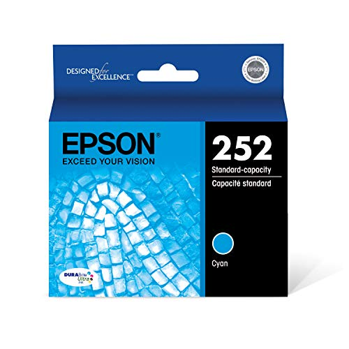 Epson T252220 DURABrite Ultra Cyan Standard Capacity Cartridge Ink (Standard Capacity Cyan Cartridge)