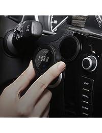 AUKEY   Transmisor FM Bluetooth, kit de coche inalámbrico con manos libres y encaje de descarga con doble puerto 4,8 A cargador de coche para dispositivos de audio móviles