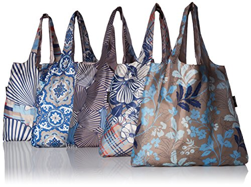 Envirosax ML.P Mallorca Pouch, Set of 5 Shopping Reusable Grocery Bags, Multicolored