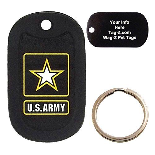 Custom Engraved Pet Tag - Army Logo - Dog Tag - Tag-Z Wag-Z