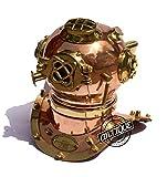 USA Mark V Replica Copper and Brass Helmet Scuba