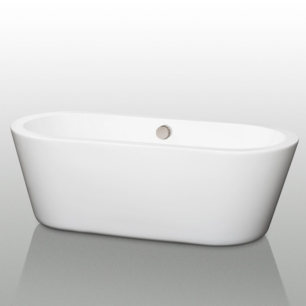Wyndham Collection Mermaid 67 Inch Freestanding Bathtub For Bathroom In  White With Polished Chrome Drain And Overflow Trim   Freestanding Bathtubs    Amazon. ... Part 50