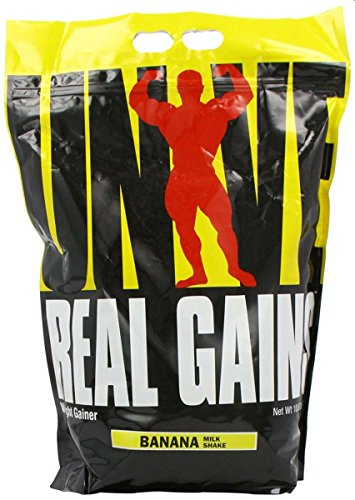 Gainer Banana - Real Gains Weight Gainer with Complex Carbs and Whey-Micellar Casein Protein Matrix Banana 10.6#