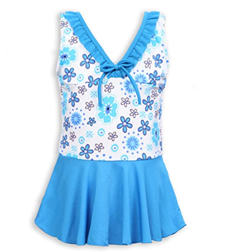 Demakrt Korean New Girls Preschool Children's Skirt Swimwear One-piece Swimsuit