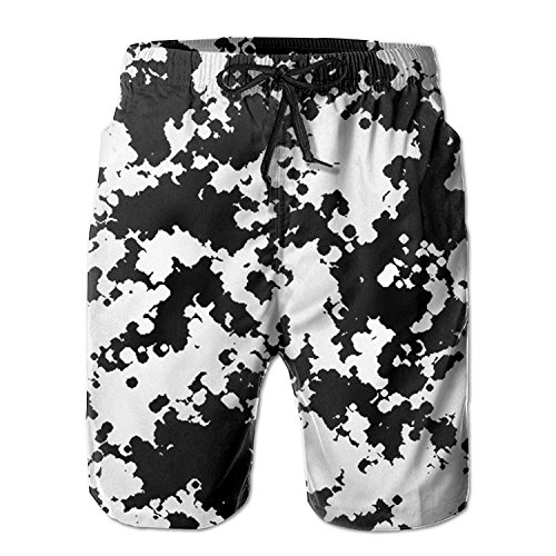 RAVIS YINGGAIH Men's Snow Camo Beachwear Quick Dry Board Sho