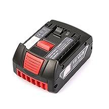Flylinktech 18V 4.0Ah Lithium-Ion HC FatPack Battery Replacement for Bosch 18 Volt BAT622 BAT620 SKC181-202L BAT619G Bosch DDS181-02 18-Volt Lithium-Ion Drill / Driver(4.0Ah)