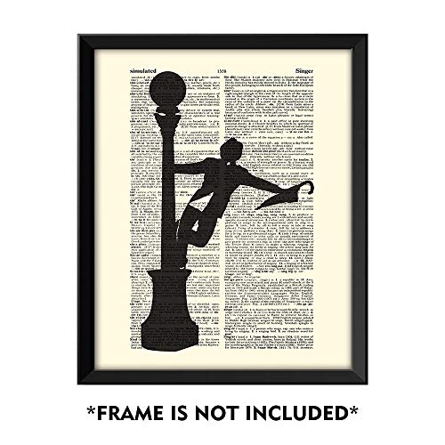 SUMGAR Singin' in The Rain Art Classic Musical Artwork Vintage Dictionary Page Art Prints 8x10 inch Wall Decor for Office Ready to Frame