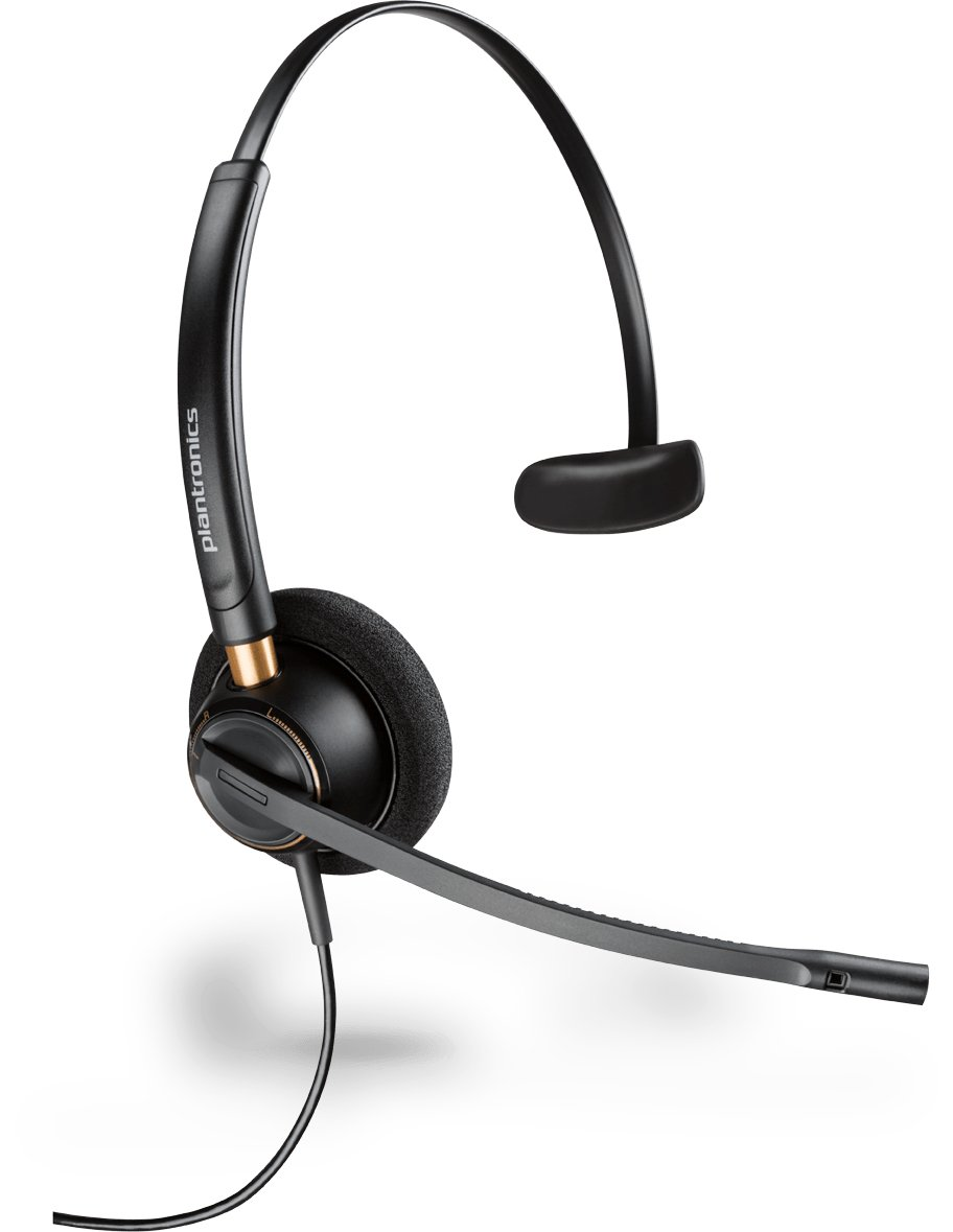 Plantronics 89433-01 Wired Headset, Black