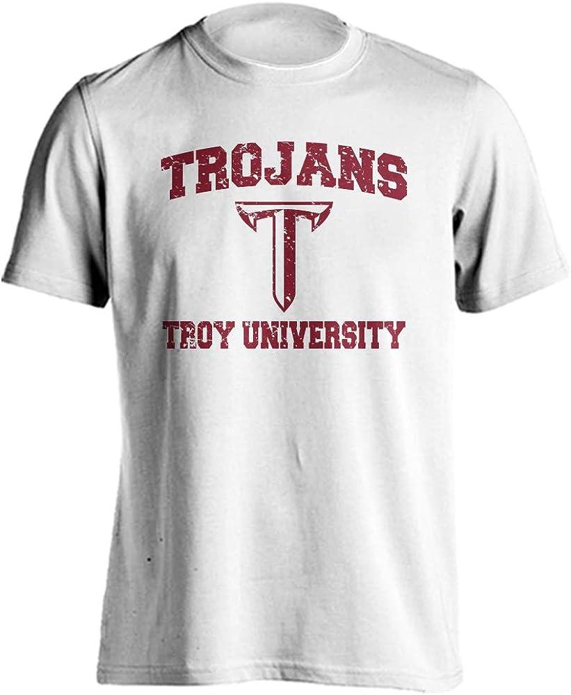 Troy Trojans Retro Distressed Short Sleeve T-Shirt