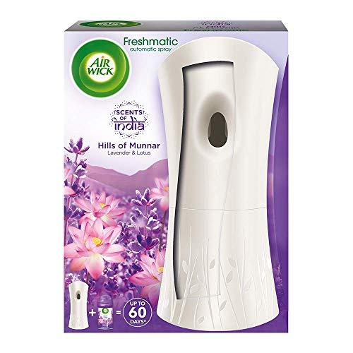 Airwick Freshmatic Automatic Air Freshener Complete Kit [Machine + Hills of Munnar refill – 250 ml]