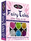 Fairy Tales Glitter Tattoo Kit with 6 Large Glitters & 12 Amazing Stencils - HYPOALLERGENIC and DERMATOLOGIST TESTED! -Temporary Tattoos & Body Art