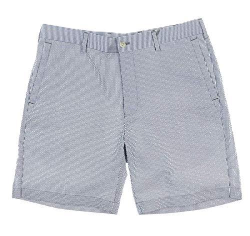 - PETER MILLAR New Mens Seersucker Pinstripe Shorts Size 33 Yankee Blue