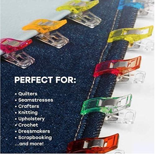 50 PCS Xinlie Clips pour la Couture Quilting Clips de Couture Clips pour Artisanat /à Usages Couture pour Agrafes Attache pour Support de Couture Agrafes pour Couture Accessoires de Couture Clips