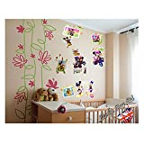 Mickey & Minnie Mouse 3D Wall Sticker, Give a Lovely Voice to Your Kids Bedroom Wall