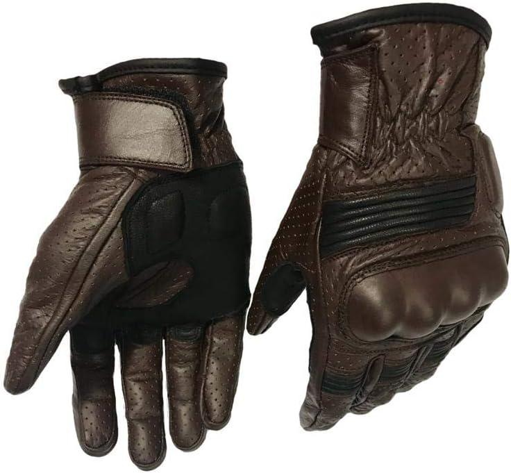 Guantes de piel de nudillos de fibra para motociclista Great Biker Gear Guantes de motociclista guantes de fibra para nudillos