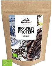 AlpenPower BIO WHEY Protein Vanilla 500g I Zonder kunstmatige toevoegingen I 100% natuurlijke ingrediënten I Biologische melk uit de Alpen I Hoogwaardig eiwitpoeder met echte vanille