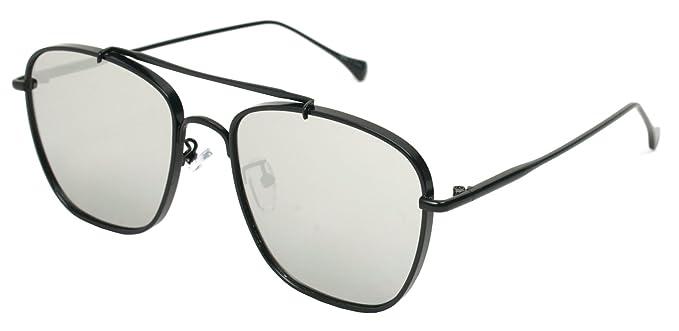 55dee471871a3 Classic Aviator Sunglasses Military Style Air Force Pilot Glasses Sports  Eyewear Metal Frame (BLACK MIRROR