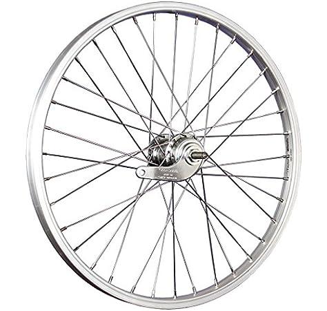 Taylor-Wheels 20 Pulgadas Rueda Trasera Bici buje Freno contrapedal Plateado: Amazon.es: Deportes y aire libre