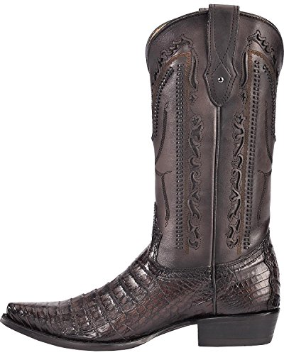 Corral Mens Grå Kajman Laser Utklipp Cowboy Boot Klipp Tå - C3256 Grå