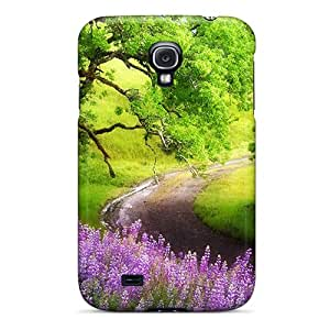 Top Quality Protection Green Path Way Case Cover For Galaxy S4