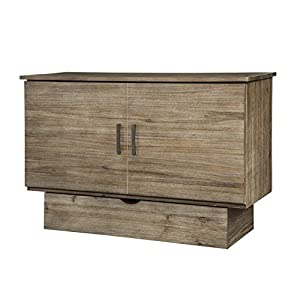 Arason Enterprises Inc. Sadie Grey Ash Cabinet with Pull-Out Queen-Size Bed