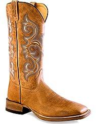 Old West Mens Golden Western Boot Square Toe - Bsm1858