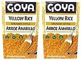 Goya Yellow Rice Spanish Style Fat Free 7oz | Arroz Amarillo Sin Gordura 198g (Pack of 02)