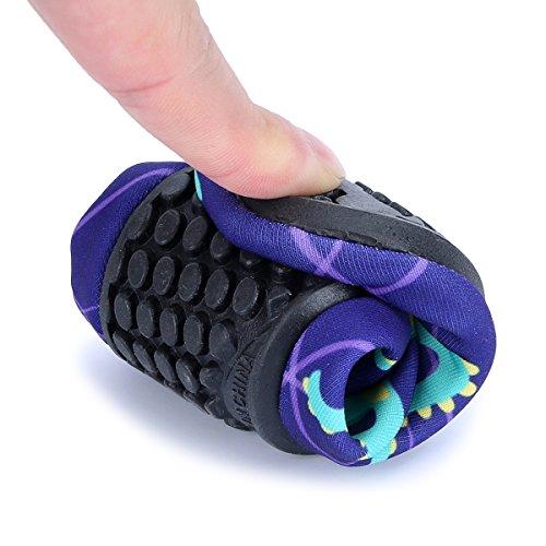 L-RUN Kids Aqua Shoes Barefoot Flexible Pool Surf Yoga Purple 1-2 M US Little Kid