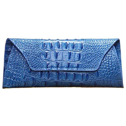 Main Cuir Longtemps Portefeuille Grand Sac Blue Mesdames Blue en 23x2x10cm 2018 à 4qS8Tw5