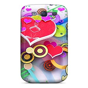 Polooshells10 WJW4483Tjic Cases Covers Skin For Galaxy S3 (love 3d Design)