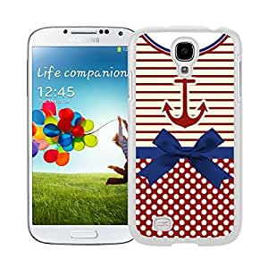 New Style View Window Design Smart Cover For Samsung Galaxy S4 i9500 Anchor Chevron Retro Vintage Tribal Nebula Pattern Watercolor Samsung Galaxy S4 i9500 Case White Cover
