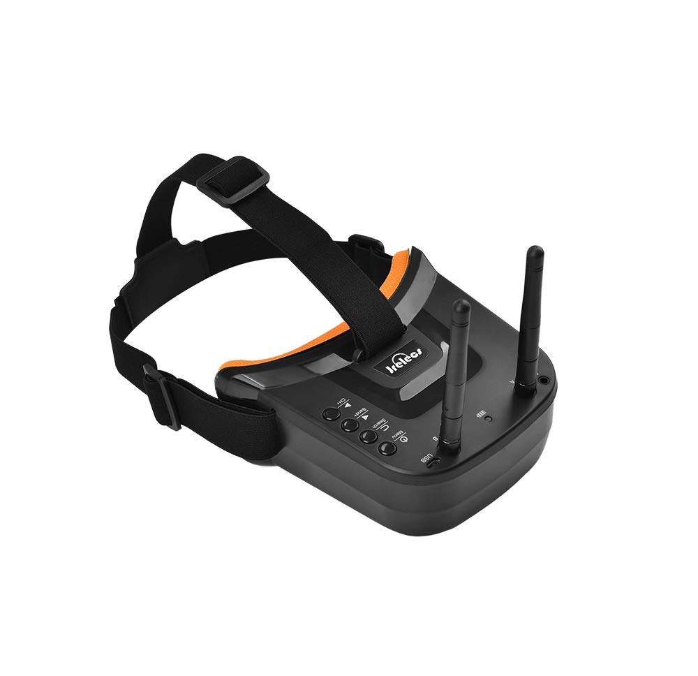Jrelecs 5.8Ghz FPV Goggles, VR-009 Video Headset 5.8G 40CH HD 3 inch 16:9 Display Mini FPV Goggles for FPV Quadcopter Drones