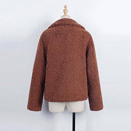 mujeres Escudo Chaqueta Internet las Cardigan de Parka caliente lujo mujer Tops de abrigo café Coat de Outwear TrwvUT