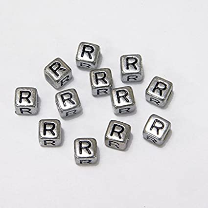 Amazon Com Jolly Store Crafts 6mm Silver Metallic Alphabet