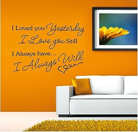 Te amé Letras inglesas Pegatinas de pared Sala de estar TV ...