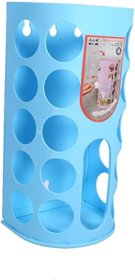 cocina para comprar en casa contenedor de bolsa de pl/ástico contenedor de bolsa de transporte almacenamiento ecol/ógico de bolsas de transporte en la pared blue