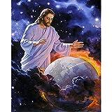 YaYiYo Diamond Painting Embroidery Handicraft DIY Full Drill Jesus Protect Earth Christian God Kit Home Decor