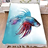 Bed Skirt Dust Ruffle Bed Wrap 3D Print,Fish Swimming in Aquarium Aggressive Sea Animal,Fashion Personality Customization adds Color to Your Bedroom. by 90.5''x96.5''