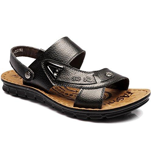 Zapatillas Real En Sandalias Al Moda Cuero Sandalias Playa Senderismo Zapatos para Aire MERRYHE La Abierto Vacaciones Libre Black De De De Tobillo De Hombre Piscina De De Zapatillas ISPdxqwt