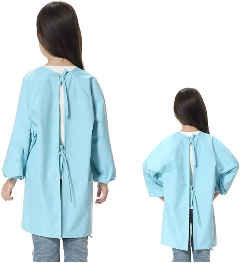 Sanmum Paint Craft Aprons Kids Art Smock Polyester Long Sleeve Waterproof Supplies for Painting Classroom School Home