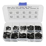 270 pcs Alloy Steel Opening Snap Ring,E-Clip External Retaining Ring Washer Assortment Kit