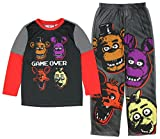 five nights of freddy merchandise - Five Nights at Freddy's Game Over Four Heads Two Piece Youth Pajama Set (Large, 10)